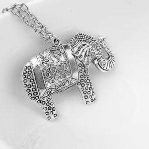 PREVIEW! Silver Elephant Pendant Retro Necklace